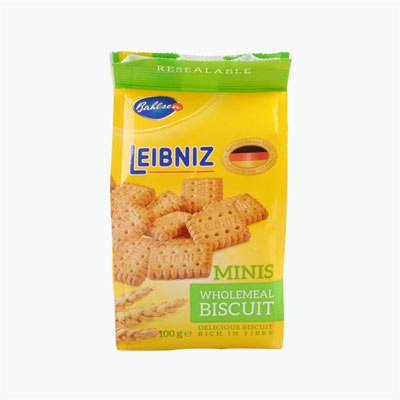 BAHLSEN Leibniz Minis Wholemeal Biscuits 100g