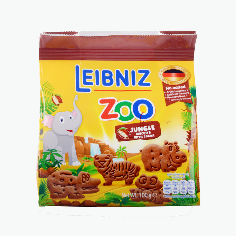 BAHLSEN Zoo Jungle Cocoa Biscuits 100g