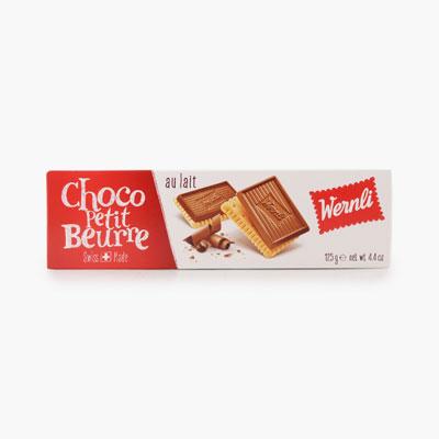 Wernli 'Choco Petit Beurre' Milk Chocolate Cookies 125g