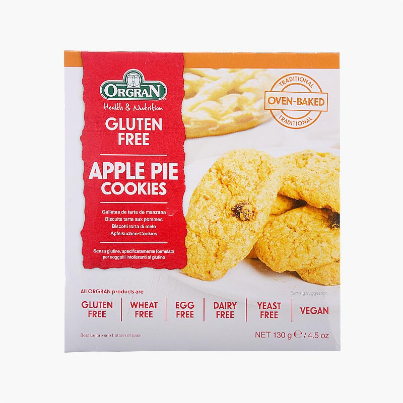 Orgran Apple Pie Cookies 130g