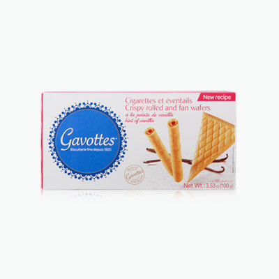 Gavottes, Dessert Assortment with Fan and Rolled Wafers 100g