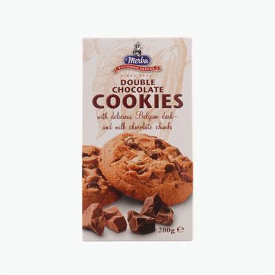 Merba Patisserie Double Chocolate Cookies 200g