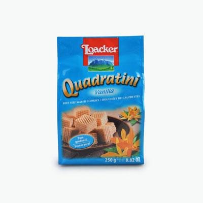 Loacker 'Quadratini' Bite Size Wafer Cookies (Vanilla) 250g