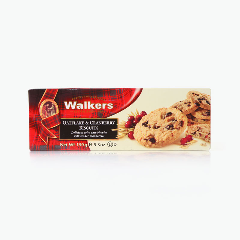 Walkers, Oatflake & Cranberry Biscuits 150g