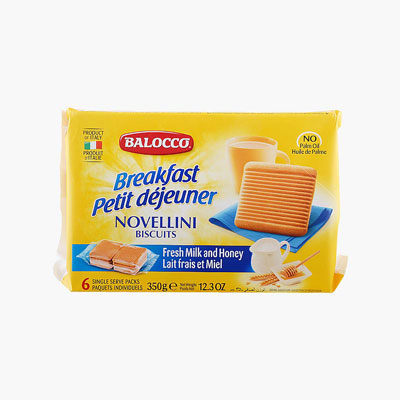 Balocco  'Novellini' Honey & Cream Cookies 350g