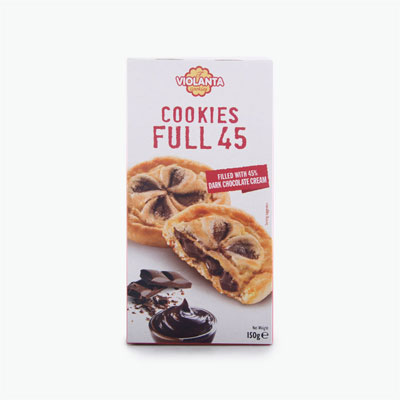 Violanta Full 45 Dark Chocolate Cookies 150g