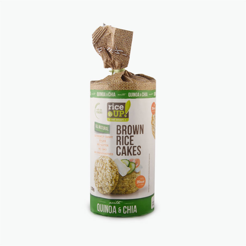 Rice Up Quinoa and Chia Seeds Brown Rice Cakes 120g