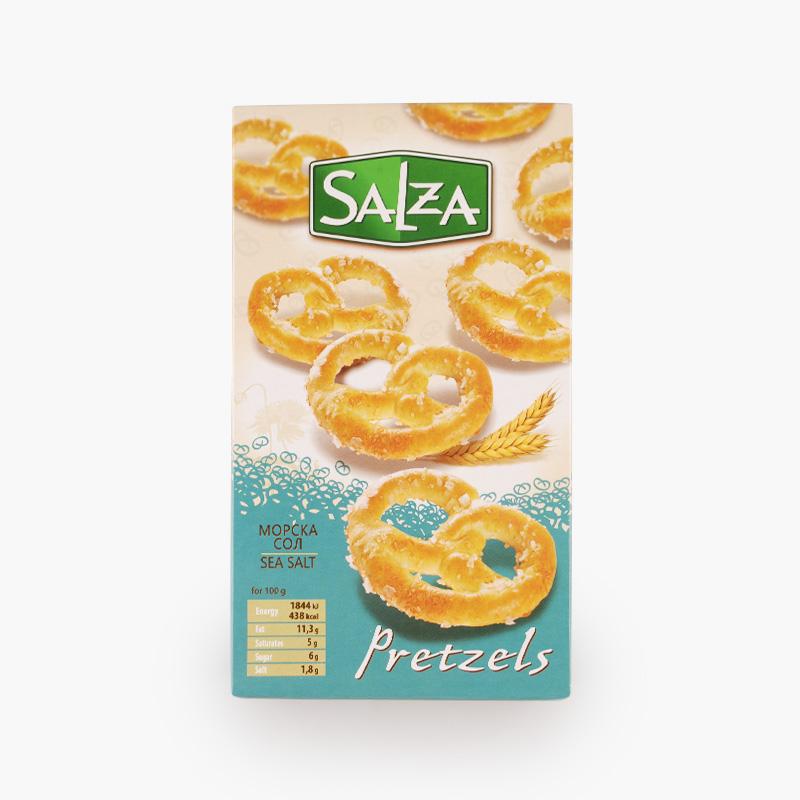 Salza, Pretzels with Sea Salt 125g
