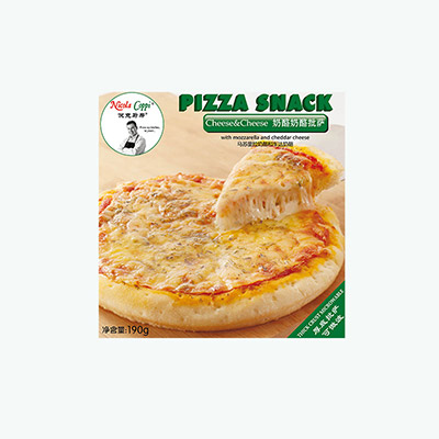 Nicola Coppi, 'Pizza Snack' Microwaveable Pizza (Cheese & Cheese) 190g 7 inch