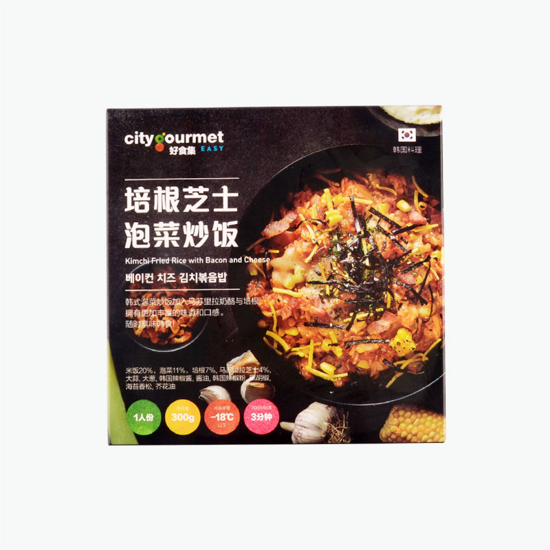 City gourmet Kimchi Fried Rice with Bacon and Cheese 300g
