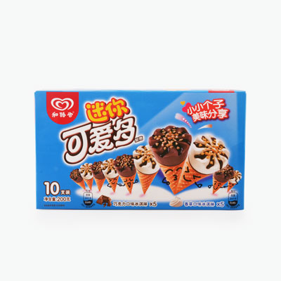 Wall's, 'Cornetto' Mini Vanilla-Chocolate Ice Cream (Cone) x10 200g
