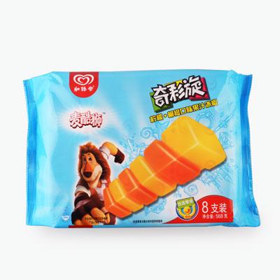 Max, 'Zigzag' Frozen Popsicles (Lemon & Orange) 71g x8