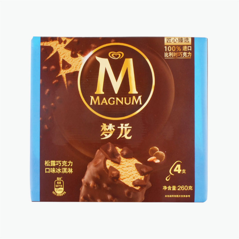 Magnum, Chocolate Truffle Ice Cream Bars 65g x4