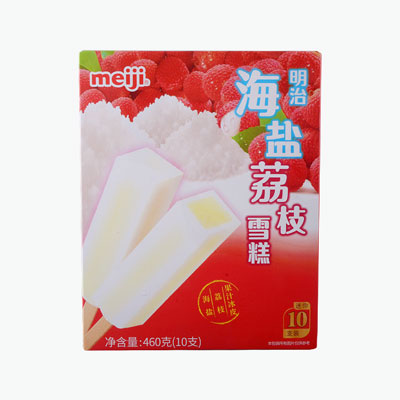 Meiji Sea Salt Litchi Ice Cream x10 46g