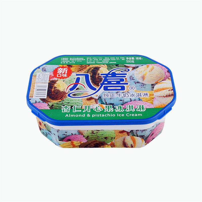 Baxy Family Size Ice Cream Almond & Pistachio 500g