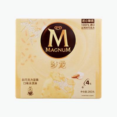 Magnum, White Chocolate Almond Ice Cream Bars 65g x4