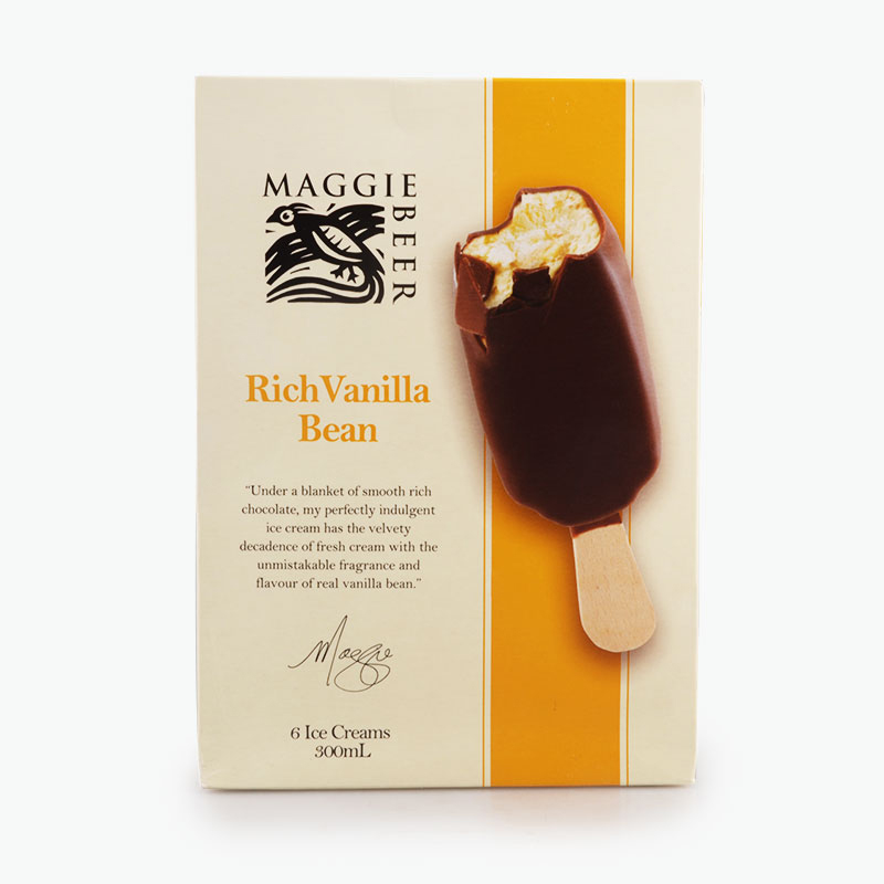 Maggie Beer, Rich Vanilla Bean Ice Cream Bars 37g x6