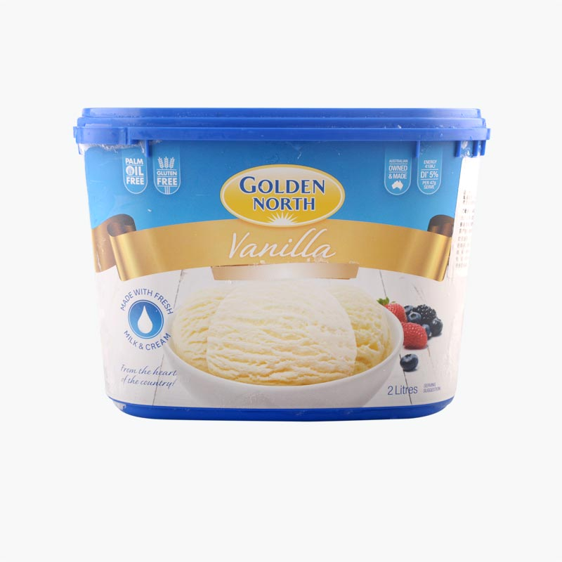 Golden North Vanilla Ice Cream 2L