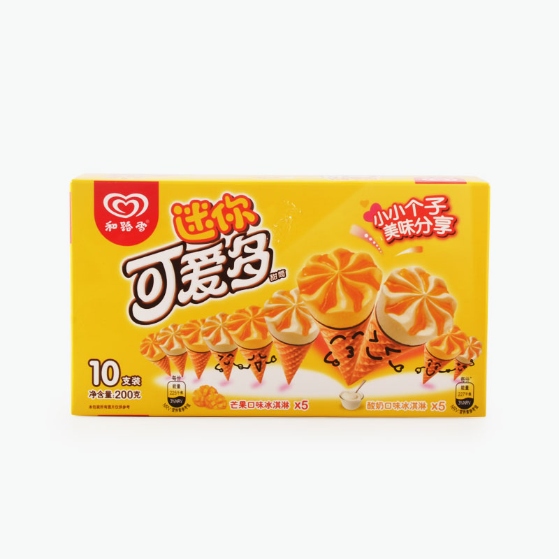 Wall's, 'Cornetto' Mini Mango-Yogurt Ice Cream (Cone) x10 200g