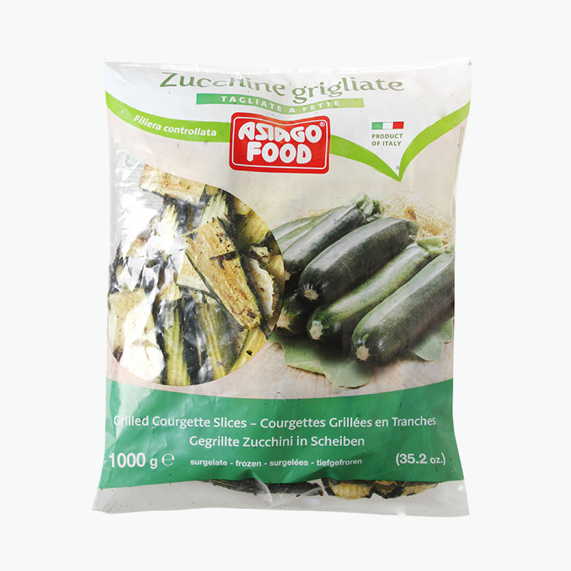 Asiago Food Frozen Grilled Courgette Slices 1kg