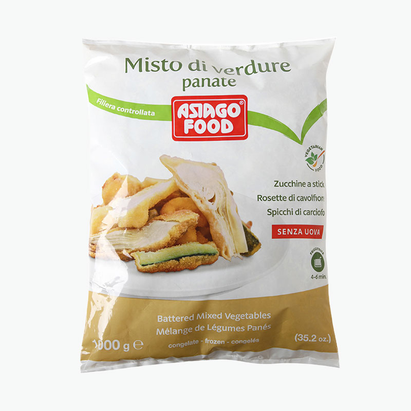 Asiago Food Battered Mixed Vegetables 1kg