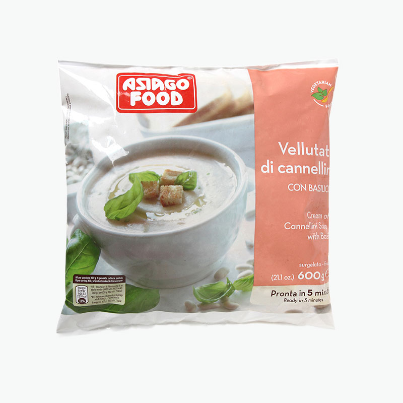 Asiago Food Cream Of Cannellini Beans Soup With Basil 600g