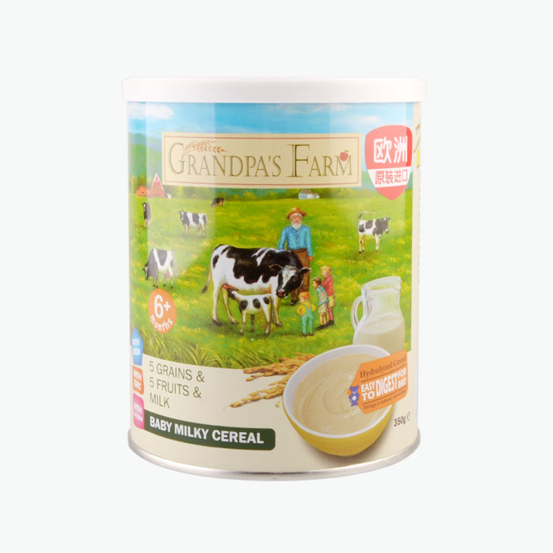 Grandpa'S Farm, Infant, Multi-Grain, Mixed Fruit, Milk, Rice Powder 350g