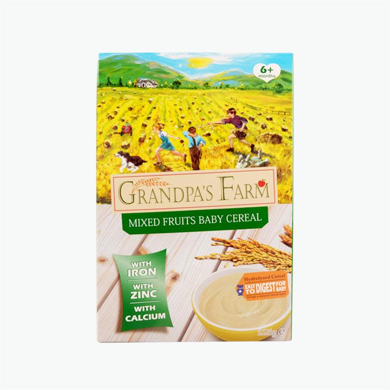 Grandpa's farm infants, multi-grain mixed fruit rice powder 225g
