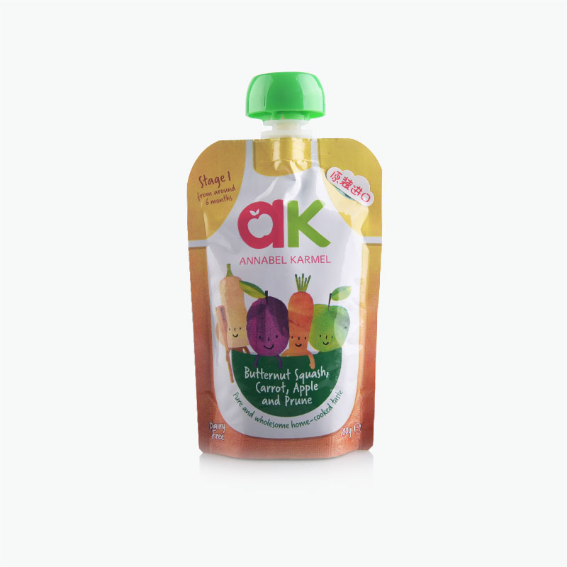 Apple Carrot Butternut Squash and Prune Puree 100g