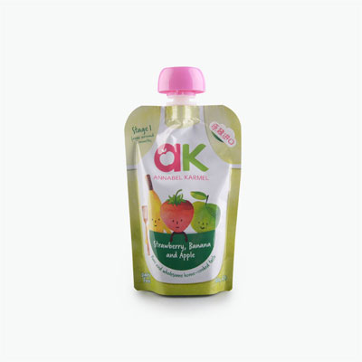 AK Apple Strawberry and Banana Puree 100g