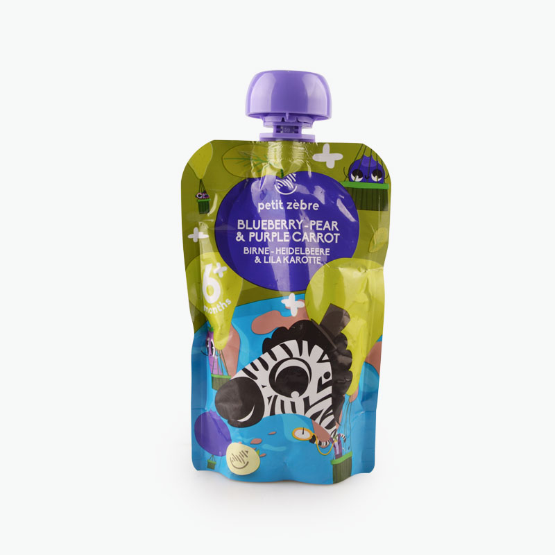 Petit Zèbre, Baby Puree (Blueberry, Pear, Purple Carrot) 100g