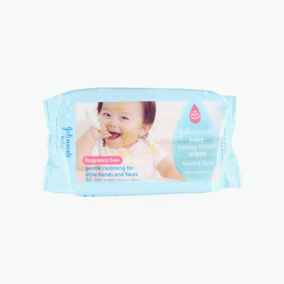 Johnson's, Hand & Face Baby Wipes x80