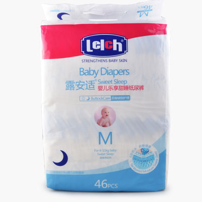 Lelch, Sweet Sleep Baby Diapers (M) x46