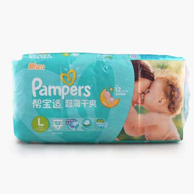 Pampers, Baby Dry Diapers (L) x52