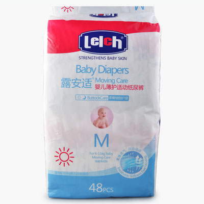 Lelch, Moving Care Baby Diapers (M) x48
