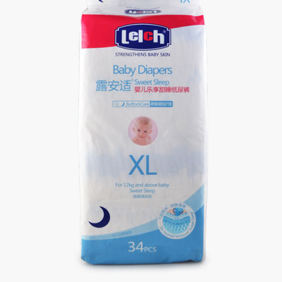 Lelch, Sweet Sleep Baby Diapers (XL) x34