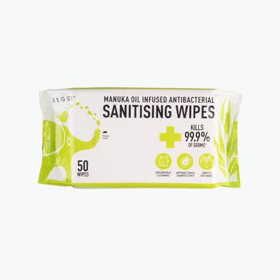 Beggi Manuka Oil Antibacterial Sanitising Wipes x50