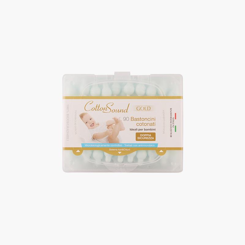 CottonSound, Baby Cotton Swabs (Blue Cotton) 90pcs