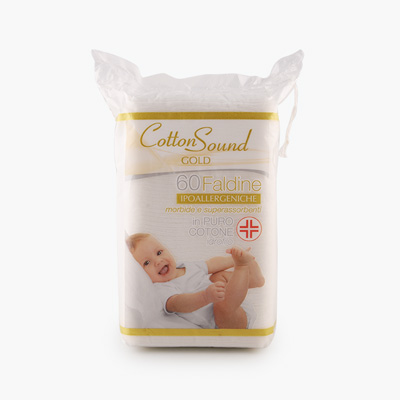 CottonSound, Rectangular Cotton Pads for Newborn, 60pcs