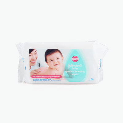 Johnson's, Gentle Cleansing Baby Wipes x80