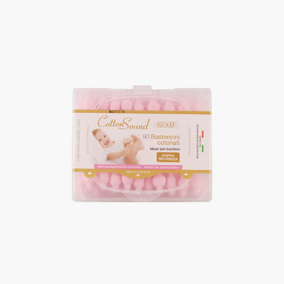 CottonSound, Baby Cotton Swabs (Pink Cotton) 90pcs