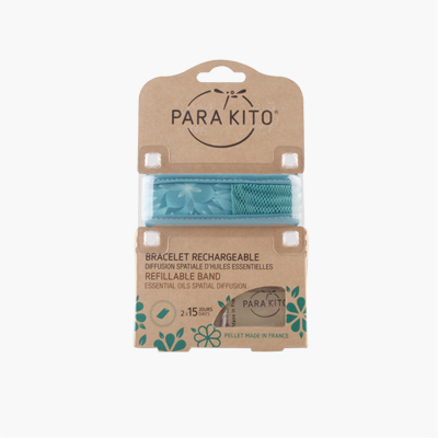 Para Kito Blue Leaves Design Natural Mosquito Repellent Band x 2 Refills