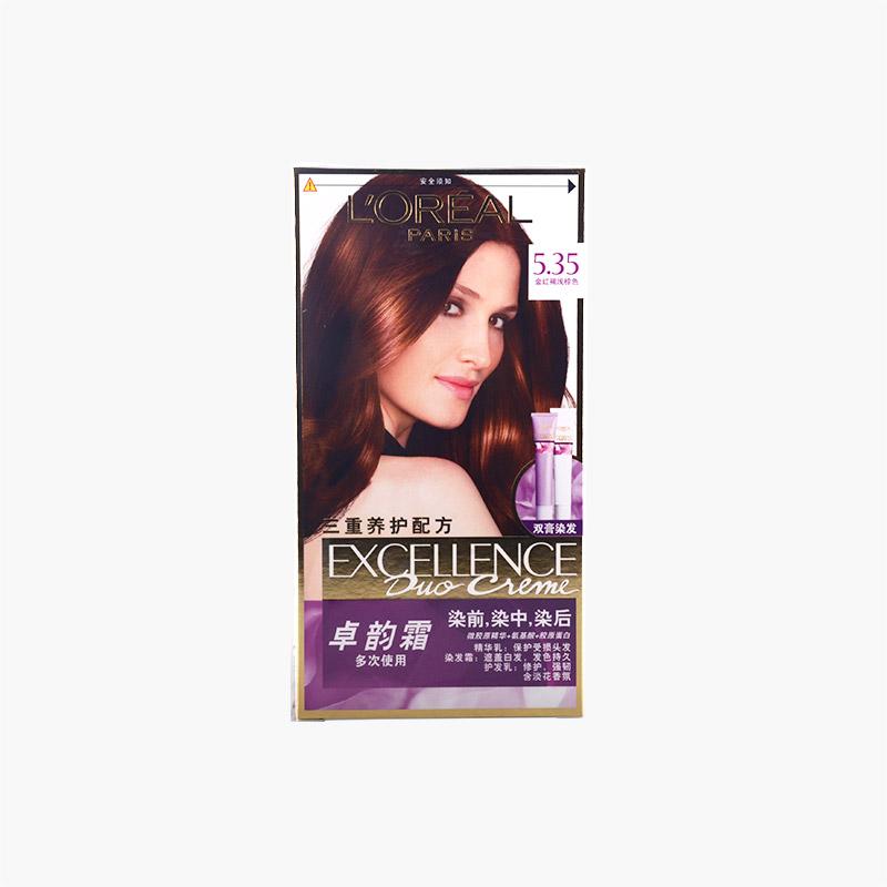 L'Oreal Moisturizing Hair Dye 5.35 Golden Brown 148ml