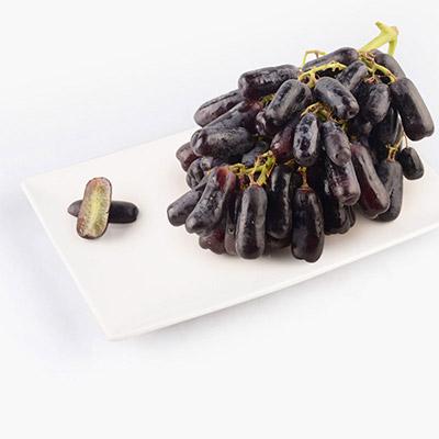 Black Finger Grapes (Seedless) 500g