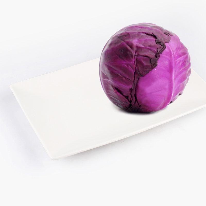 Organic Purple Head Cabbage 500g