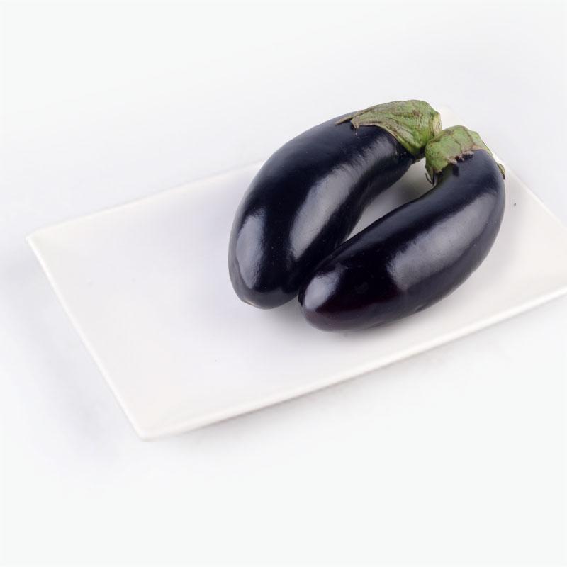 Organic Green Round Eggplant 250g