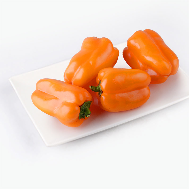 Organic  Orange Bell Peppers 500g
