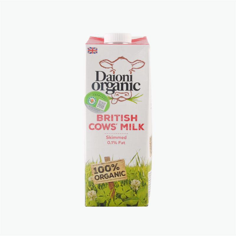 Daioni Organic Skimmed Cow's Milk 1L