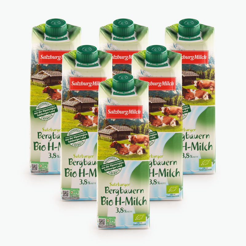 Salzburgerland Organic Whole Milk 1L x6