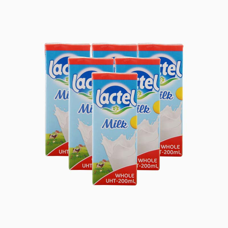 Lactel Whole Milk 200ml x6